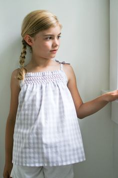 The Purl Bee - Knitting Crochet Sewing Embroidery Crafts Patterns and Ideas! Smocked Dress and Shirt Pattern