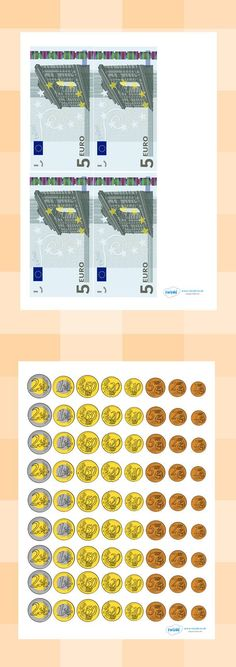 Twinkl Resources >> Euro Money Cut-Outs >> Classroom printables for Pre-School, Learning Money, Education Grants, Spanish Teaching Resources, Counting Money, Play Money, Budget Planer, Pre School, Math Activities, Social Skills