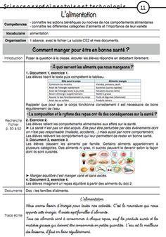 CE2 - Période 4 : l'alimentation, l'hygiène et la santé