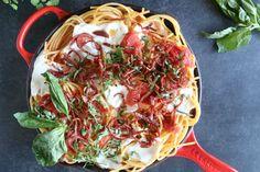 Bucatini with Crispy Salami and Tomatoes