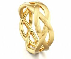 Gold knot infinity ring