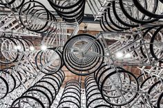 'Stacked' - an installation of 760 bikes from China by Ai Weiwei