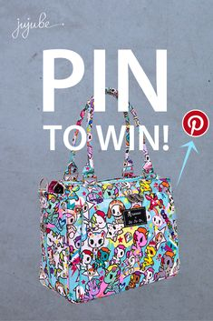 """Follow @tokidokibrand AND @jujube_europe to enter! #tokidokixjujube #unikiki2pt0 RULES: PIN TO WIN this Be Classy bag from the tokidoki x Ju-Ju-Be Unikiki 2.0 collection! Follow these quick steps:  1. Create a Pinterest board titled """"Unikiki 2.0"""" 2. Re-pin your favourite Unikiki 2.0 items from this board.  3. Pin your favourite products from www.tokidoki.it and www.ju-ju-be.com/europe 4. Get creative – pin additional images from friends that inspire you"""