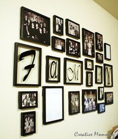 Wall Collage Picture Frames photo wall. i have been looking for good ideas on how to do this