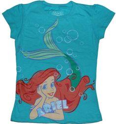 Amazon.com: Disney's Little Mermaid Ariel Girls T-shirt: Clothing