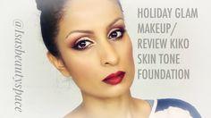 Holiday Glam Makeup tutorial/ Kiko skin tone foundation review
