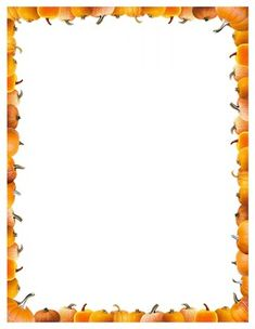 FREE!  Pumpkin border and frame. High Quality Graphics. JPG PNG PDF  From my store on 'teacherpayteacher.com'  The Indigo Comma