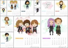 Calendario 2018 de Harry Potter para Imprimir Gratis.