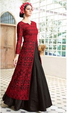 Black Color and Net Fabric Disigner Stitched Kameez and Lehenga with Dupatta…