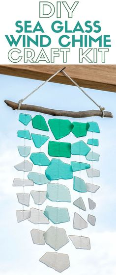 Create a handmade sea glass wind chime and enjoy the summer breeze. The craft…