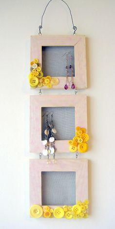 Embellished Button Frame - Lots of Buttons
