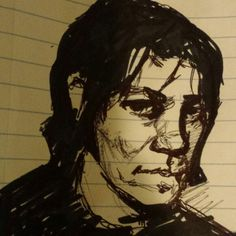 Sketch of Elliott Smith by Joker Little