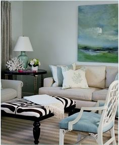 THINK BIG + BRIGHT! Is there an empty wall or worse (little chintzy decor) above your Sofa? It's time to add personality and transform your space with Color-Rich #Canvas #Art