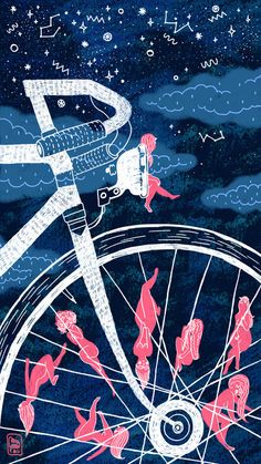 """Erotic Bike"" Art Print by LITTLEてあし on Society6."