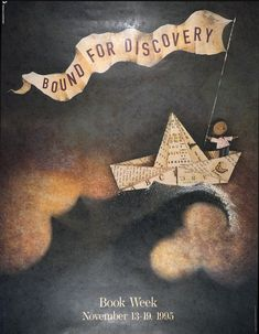 Official Children's Book Week poster, 1995, Lane Smith, (1959-Present)
