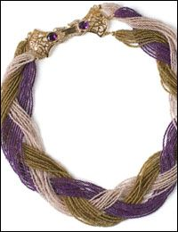 DIY instructions--also tells you how to transfer hank strings of beads to jewelry wire or cord, how to finish off multiple strands of beads with a knot and a bell end cap