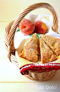 Browned Butter Peach Scones via Laura of Tutti Dolci - All Sweets