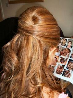Peinados para cabello largo liso semirecogido paso a paso
