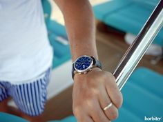 "Sailing on-board the Apreamare GOZZO with the IWC Portofino Chronograph Edition Years"" Dream Watches, Luxury Watches, Iwc Watches, Watch Brands, Chronograph, Sailing, Objects, Board, Rings"