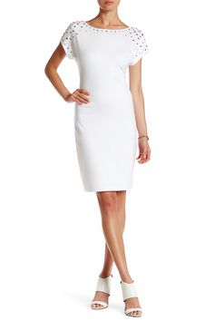 Ponte Studded Dress by Grayse on @HauteLook