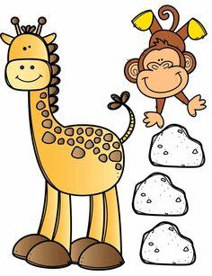 Cartoon Pics, Cartoon Drawings, Cute Cartoon, 2 Clipart, Cute Clipart, Grandma Crafts, Jungle Theme, Polymers, Animal Crafts
