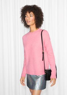 & Other Stories Knit Sweater in Pink