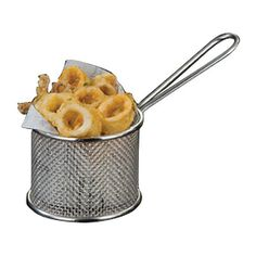 American Metalcraft FRYR375 Round Fry Basket - CooksDirect.com American Metalcraft, Restaurant Equipment, Commercial Kitchen, Fries, Basket, Food, Commercial Restaurant Equipment, Commercial Cooking, Baskets