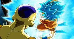 Resultado de imagen para goku y vegeta ssj dios azul juntos gif