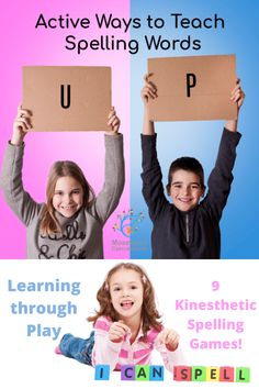 Kinesthetic Spelling Activities - Nine Active Spelling Games