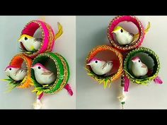 Best out of waste bangles || bird wall hanging || DIY || handicraft - YouTube