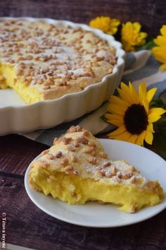 Cake della nonna - The Tuscan Grandma's Pie - A delicious gourmet - Easy Dessert Recipes Gourmet Desserts, Best Dessert Recipes, Easy Desserts, Delicious Desserts, Best Chocolate Desserts, Hungarian Recipes, No Bake Cake, Quiche, Cooking Recipes
