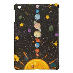 Solar System Funny Planets iPad Case iPad Mini Covers