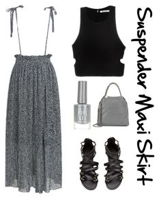 """""""Suspender maxi skirt"""" by im-karla-with-a-k on Polyvore featuring T By Alexander Wang, New Look and STELLA McCARTNEY"""
