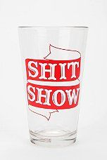 Showy Pint Glass - urbanoutfitters.com