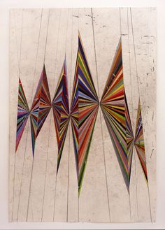 parisianclass:red-lipstick:Mark Grotjahn (American, b. 1968, Pasadena, CA, USA) - Untitled (Colored Butterfly White Background 10 Wings), 2004  Drawings: Colored Pencils on Paper♢