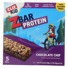 Clif Kid Zbar Organic Kid Zbar Protein - Chocolate Chip - Case Of 6 - : Clif kid zbar chocolate chip whole grain protein snack is a delectable treat for your child. This protein snack is. Portable Snacks, Clif Bars, Organic Brown Rice, Cereal Bars, Nutrition Bars, On The Go Snacks, Unsweetened Chocolate, Gluten Free Oats, Cereal Recipes