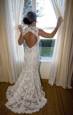 Definitely my future wedding dress. Love the lace! Wedding Wishes, Wedding Bells, Wedding Events, Wedding Gowns, Lace Wedding, Dream Wedding, Wedding Stuff, Backless Wedding, Bridal Gown