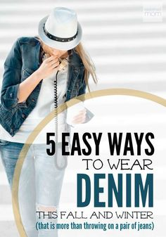Denim is everywhere! And it's no longer just for casual Friday. So get ready to amp up your wardrobe with 5 Easy Ways to Wear Denim This Fall & Winter (and believe me, it is WAY more than just throwing on a pair of jeans.)