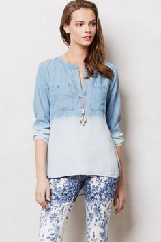 206d62a101169b Anthropologie Bess Pocketed Henley Size M