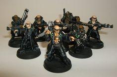 Necromunda Gangs, Sci Fi Miniatures, Warhammer Models, Warhammer 40000, Minis, Google, Painting, Ideas, Painting Art