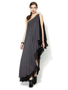 Silk One Shoulder Gown by Alexia Admor on Gilt.com