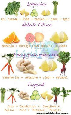 Mis favoritos! Prueben una semana de jugos mañaneros y verán el cambio en la salud y nivel de energía.