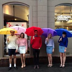 Technicolor employees at our Adelaide, Australia store! #AmericanApparel  #spring #rainbow