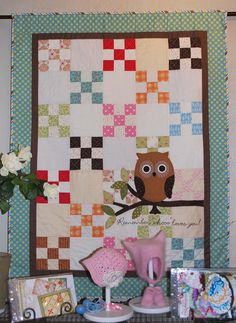 Another baby owl quilt idea.  Should be pretty easy to make my own pattern...