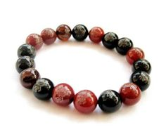 10mm Red Black Agate Beads Tibetan Buddhist Mala Bracelet Ovalbuy. $4.99. Handcrafted by ovalbuy. Elastic Cord. Beads Size: 10 mm. Free Jewelry Pouch