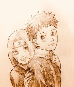 Obito y Rin Kakashi Hatake, Madara Uchiha, Naruto E Boruto, Anime Naruto, Naruto Art, Naruto Drawings, Naruto Family, Naruto Couples, Naruhina