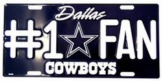 Dallas Cowboys #1 Fan NFL Embossed Vanity Metal Novelty License Plate Tag Sign 1810M