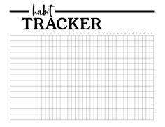 Monthly habit tracker sheet printable so you can keep track of your daily goals. To Do Planner, Goals Planner, Monthly Planner, Planner Pages, Project Planner, Goals Printable, Printable Planner, Printables, Free Printable