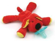 WubbaNub Red Dog Infant Pacifier-Kidznstyle.com $13.95 Keep your child's Best friend close!!