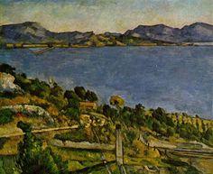 Sea at L'Estaque - Paul Cezanne #cezanne #paintings #art